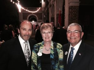 LTG (Ret) Dennis Cavin and wife Mary join recording artist Lee Greenwood at the Governor's Residence in support of Nashville Salutes Medal of Honor event.  Jun 2015